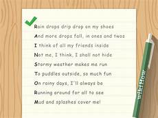 How To Write A Poem How To Write An Acrostic Poem 10 Steps With Pictures
