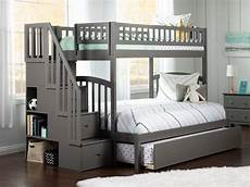 westbrook staircase trundle bunk bed atlantic furniture