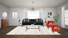 Teal Sofa Table 3d Image rendering gray drape jpg interior interior design