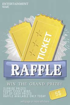 Raffle Ticket Poster Ideas Raffle Giveaway Ticket Poster Flyer Template Postermywall
