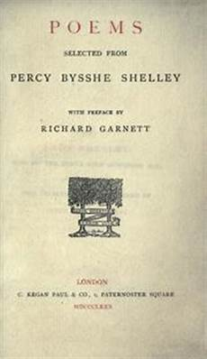 Poems Selected From Percy Bysshe Shelley 1880 Edition