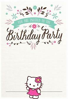 Free Invitation Cards Templates Hello Kitty Free Printable Invitation Templates
