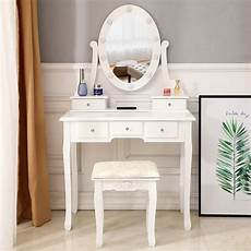 vanity makeup table set with lighted mirror dressing