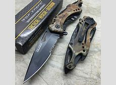Tac Force Grey Camo Hunting Outdoor Camping Can Opener