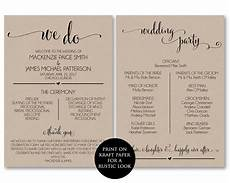 Program Template For Wedding Wedding Program Template Wedding Program By Modernsoiree