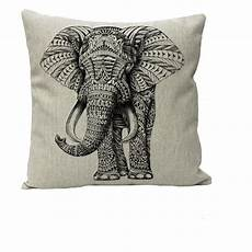 nunubee animal cotton linen home decor throw pillow
