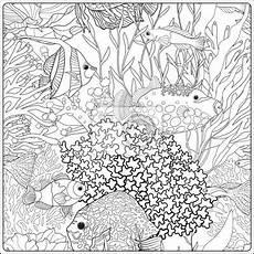 ausmalbilder erwachsene unterwasserwelt kinder zeichnen
