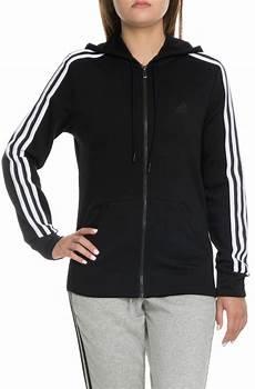 Black And White Designer Hoodie Adidas Hoodie Women S Co Fl 3 Stripes Full Zip Black White