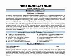 Process Technician Resumes Process Technician Resume Template Premium Resume