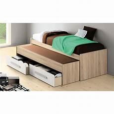 lit lits gigognes adultes nouveau lit gigogne adulte 2 matelas 90x200 boston blanc achat