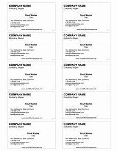 libreoffice business card template generic business card