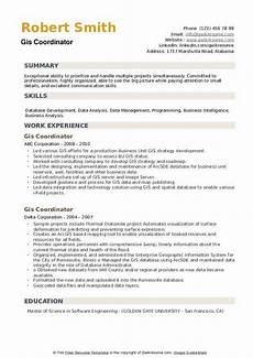 Gis Resume Gis Coordinator Resume Samples Qwikresume
