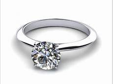 Platinum 2mm Knife Edge Solitaire Engagement Ring