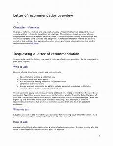 Letter Of Recommendation Without Addressee Letter Of Recommendation Overview