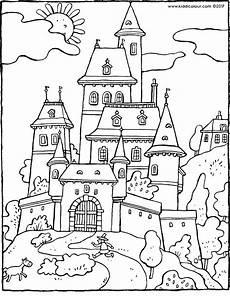 Malvorlagen Prinzessin Schloss Tale Castle Kiddicolour