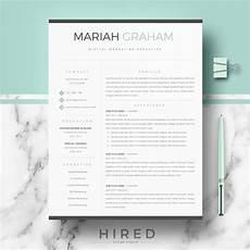 Modern Professional Resume Template Home Hired Design Studio