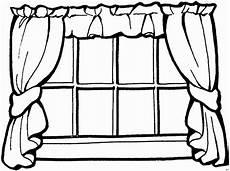 Malvorlagen Fenster Fenster Mit Vorhaengen Ausmalbild Malvorlage Architektur