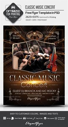 Concert Flyer Psd Classic Music Concert Free Psd Flyer Template By