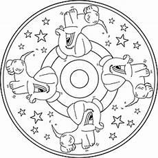Malvorlage Hund Mandala Ausmalbilder Mandala Tiere Basteln
