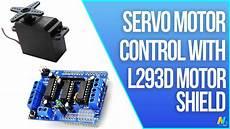 Arduino Servo Motor Control Arduino Servo Motor Control With Motor Driver Shield L293d