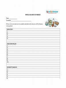 Pot Luck Sign Up Free 12 Sign Up Sheet Examples Amp Samples In Pdf Examples