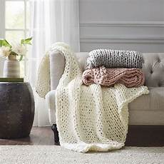 handmade chunky knit throw knitted throws