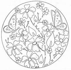 Malvorlage Schmetterling Mandala Mandalas Schmetterlinge Zum Ausdrucken