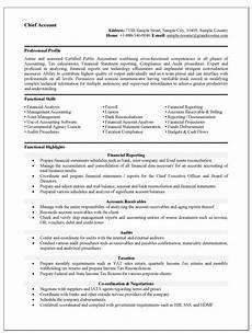 Resume Format Accountant Resume Format