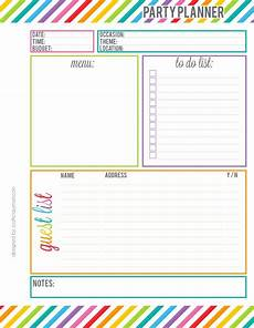 Party Planning Templates Rainbow Party Planner Printable Party Planners Printable