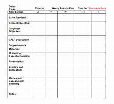 Weekly Activities Plan Free 8 Weekly Lesson Plan Samples In Google Docs Ms