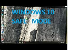 How To Boot Windows 10 in Safe Mode!   YouTube
