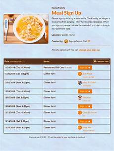 Meal Sign Up Sheet Template Meal Sign Ups Organize Meals Online For Free