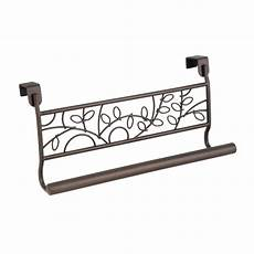 the cabinet towel bar holder twigz interdesign bronze