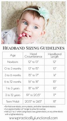 Elastic Size Chart How To Make Diy Baby Flower Headbands No Sewing Required