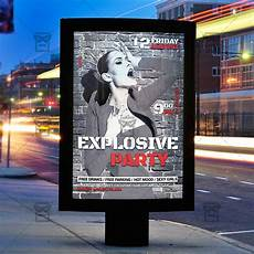 Party Flyer Size Explosive Party Premium Flyer Template Instagram Size