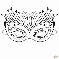 venetian mask coloring page free printable coloring pages