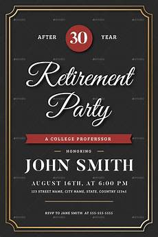 Retirement Party Flyers Retirement Invitation Flyer Templates By Vynetta