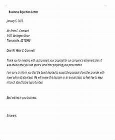 Decline Letter 14 Formal Rejection Letters Free Sample Example Format