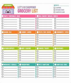 Printable Shopping List Template Free 9 Printable Grocery List Templates In Ms Word