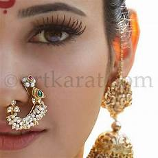Noose Designs 253 Best Images About Indian Nose Pins And Nose Rings On