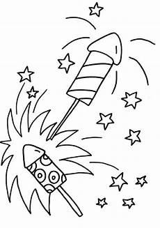 Ausmalbild Rakete Silvester Kostenlose Malvorlage Silvester Silvester Raketen Zum