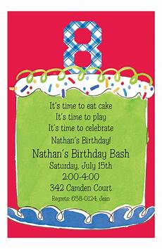 Birthday Invitations For Boy Boy Eighth Birthday Invitation 8th Birthday Party
