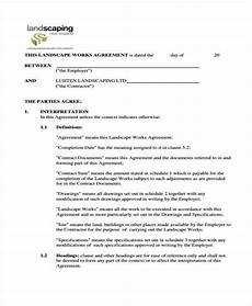 Free Landscaping Contract Forms Free 36 Sample Free Contract Forms Pdf