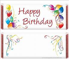 Free Birthday Candy Wrapper Template Happy 100th Birthday Birthday Chocolate Bar Wrappers