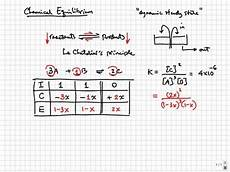 Ice Rating Chart Chemical Equilibrium Equilibrium And Ice Calculations