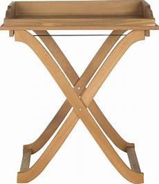 covina tray table acacia wood teak metal end