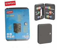 staples 42 hooks metal key storage cabinet box keystore