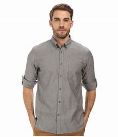 sleeve button up lyst varvatos roll up sleeve shirt w button