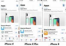 Iphone 8 And Iphone X Comparison Chart Apple Iphone X Vs Iphone 8 Plus Vs Iphone 8 Interface