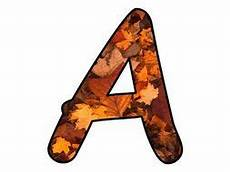 Fall Letters Template Printable Display Bulletin Letters Numbers And More